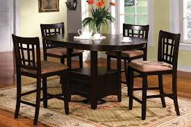 Bar Height Dining Room Table Sets Furniture Glamorous Counter Height Dining Table Round Bar Height