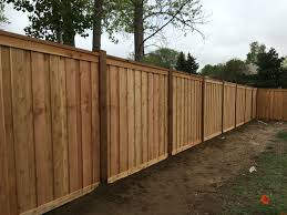 7 u0027 tall cedar privacy fence with 6x6 posts 2x6 top cap 6