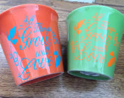 personalized flower pot painted flower pots bunny rabbits planters clay