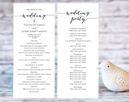diy wedding ceremony programs wedding program templates ceremony program template diy