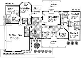 5 bedroom house plans with bonus room 3 bedroom home plan with large bonus room 48318fm