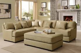 beige leather sectional sofa homelegance minnis sectional sofa set beige u9759nf sect