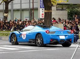 Ferrari 458 Blue - file midosuji world street 15 ferrari 458 spider aba f142