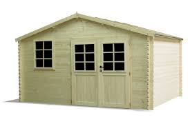 abris de jardin madeira abri bois myrny 34mm 11 86m 398 cm x 298cm madeira 002291