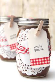 homemade applesauce with mason jar gift packaging smashed peas