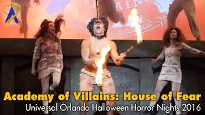 days of halloween horror nights highlights academy of villains house of fear at universal