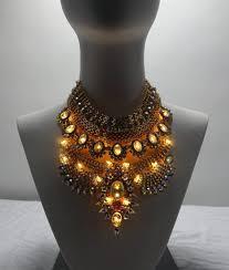 light up jewelry bib the baroness burning bibs
