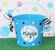 sports easter baskets personalized easter basket pail monogram easter basket