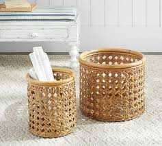 abel open weave rattan baskets pottery barn au