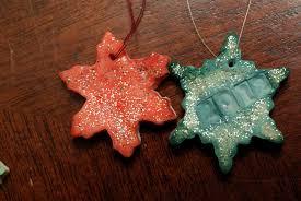 glitter glue ornaments raised from scratch