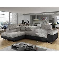 canapé d angle noir et gris canapé angle convertible gris et noir sofamobili