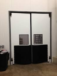 Double Swing Door Double Acting Traffic Door W E Carlson Corporation