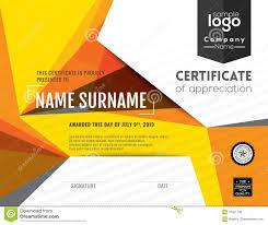 modern certificate background design template stock vector image
