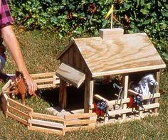 Woodworking Plans For Toy Barn by Homemade Toy Barn For Horses Toy Horse Barn The Stablemate