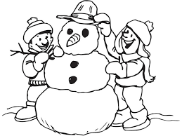 snowman coloring pages funnycrafts