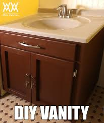 How To Install A Bathroom Sink And Vanity by Diy Bathroom Vanity Save Money By Making Your Own Cabinets