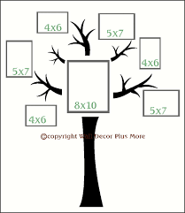 family tree wall decal for the home pinterest tree wall wall decor vinyl decal tree with branches sticker i want this in my living room perfect for grouping family pictures in a collage