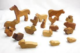 barnyard in a bag wood farm animal toys on storenvy