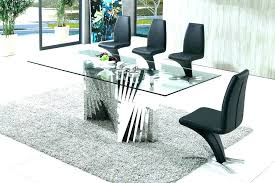 Clear Dining Room Table Clear Dining Room Chairs Black And White Kitchen Idea And Clear