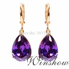 amethyst drop earrings why big earrings for women are so popular jewelry