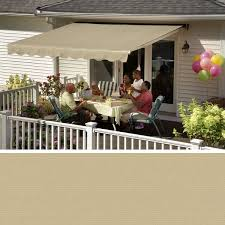 Patio Awning Reviews Sunsetter Oasis Freestanding Awning Retractable Deck And Patio