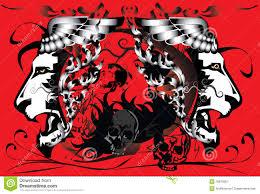 skull tattoo images free skull tattoo color stock illustration image 70666039