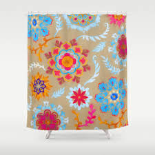 Suzani Curtain Suzani Shower Curtains Society6