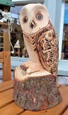 chainsaw carved owl garden ornaments ebay
