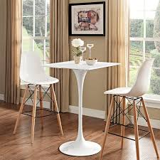 marble top bar table tulip table replica square woodtop bar table