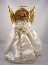 christmas tree angel golden retriever angel christmas tree topper at animalden
