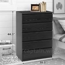 Modern Bedroom Dressers And Chests Bedroom Storage Dresser Chest 5 Drawer Modern Wood Furniture Black