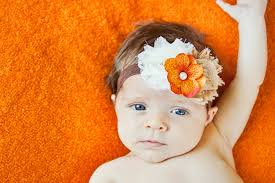 baby headband fall headband ivory brown thanksgiving