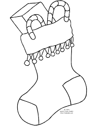christmas stocking coloring kids pages
