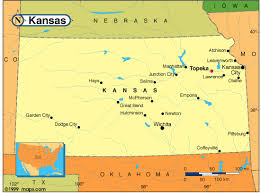 manhattan on map kansas map