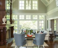 traditional interior design living room transitional with vaulted