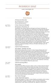 Sample Resume For Hr Assistant Sample Resume Of Recruiter Executive Cover Letter Resumes