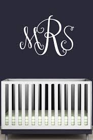 monogramed letters monogram initials vinyl wall decal monogram letters