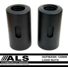 hofmann europa 2 post lift load nuts 120mm long pair