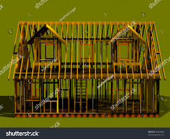 cape style house render cape style house frame rear stock illustration 45203566