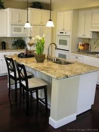 kitchen island with granite top and breakfast bar foter