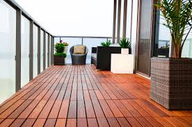 Modern Balcony Planters by Cool Balcony Flooring Idea With Concrete Tiles Also Planter Decor