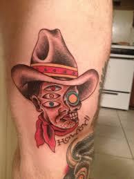 skull cowboy design design cowboy tattoos