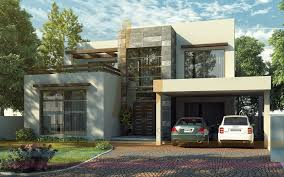 Architectural Design Of 1 Kanal House 3d Front Elevation Com Dha Lahore 1 Kanal Modern Contemporary