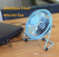 Small Desk Fans 2018 Metal Small Air Desk Fan Available Blue Pink Black With Usb