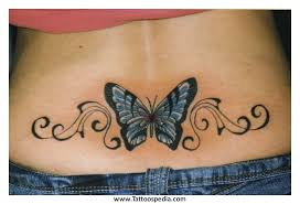 lower back tattoos butterfly designs 8