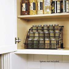 rubbermaid kitchen in cabinet pull down spice rack storage
