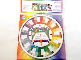 rainbow color wheel color selector pocket color wheel home deco