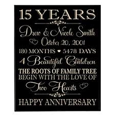 15 year anniversary ideas personalized 15 year anniversary gift for