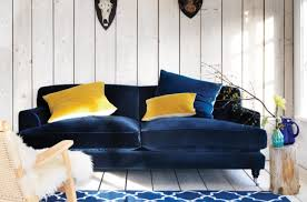 Blue Velvet Sectional Sofa Stunning Faiella Living Room Blue Sofa Different Style