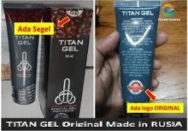 jual titan gell asli original import rusia dan usa pembesar alat